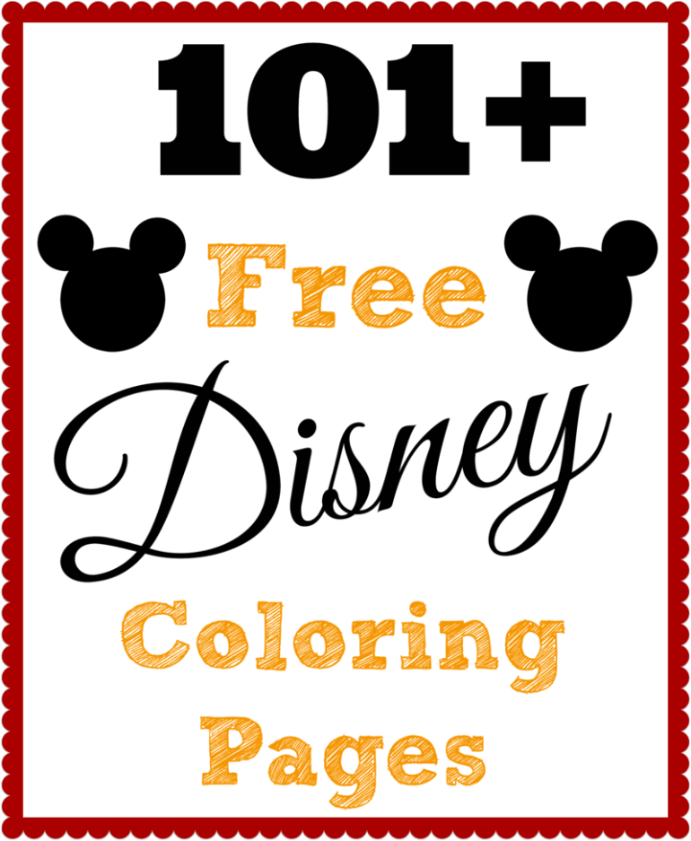 101 Free Printable Disney Coloring Pages • The Diary of a ... | colouring pages free printable disney