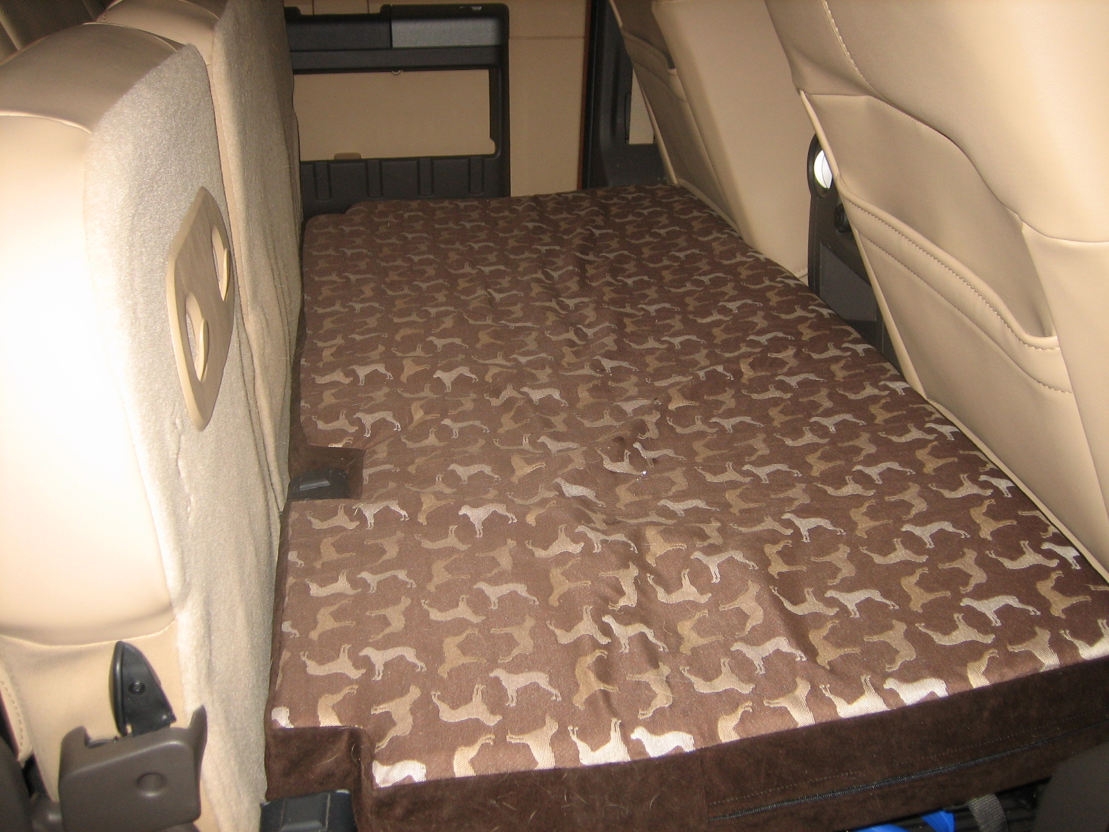 Dog Bed For The Rear Seat Fold Out Platform Diesel Forum