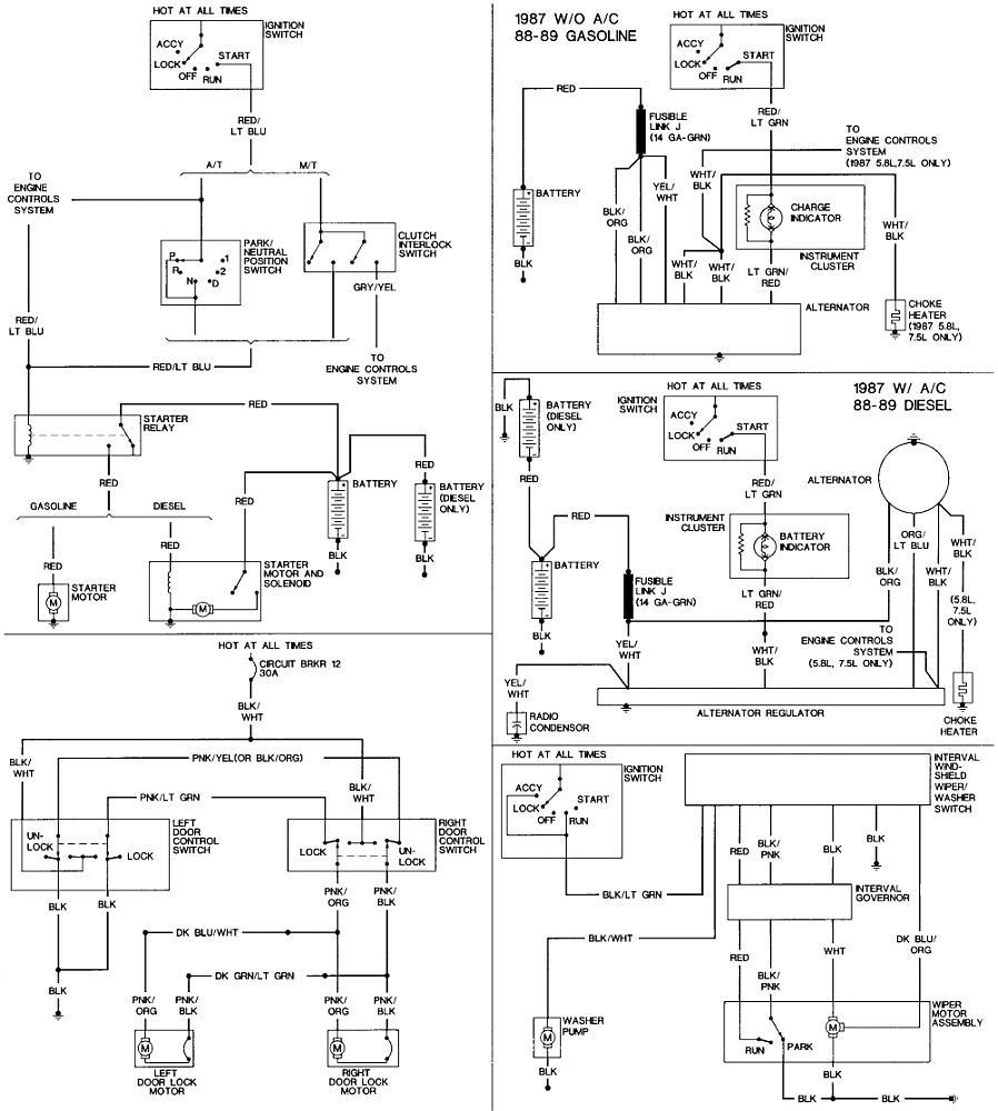 1987 Ford F 350 Wiring Diagram