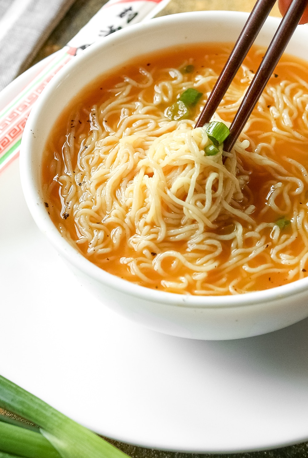 A close up of soup in a bowl.