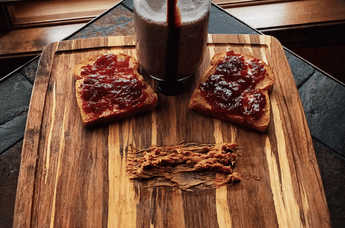 Healthy Peanut Butter and Jelly