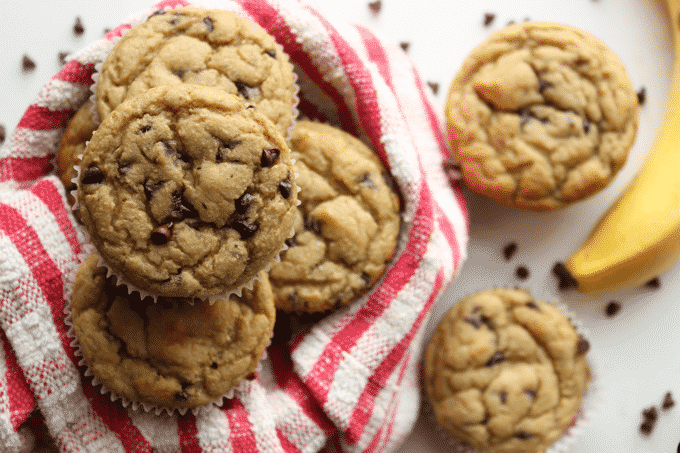 Healthy Chocolate Chip Banana Bread Muffins - The Diet Chef