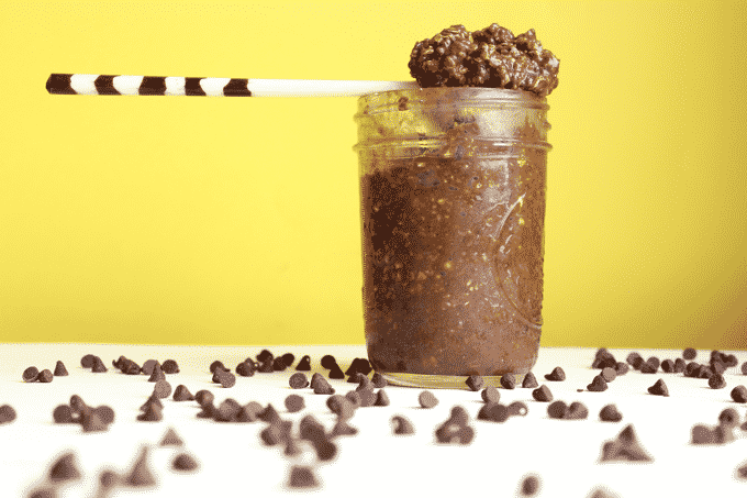 Seriously the best chocolate overnight oats recipe I've ever come across. It's pretty much a fudge brownie in oat form. So rich, so decadent, so delicious! Plus, these oats have 35g of protein.