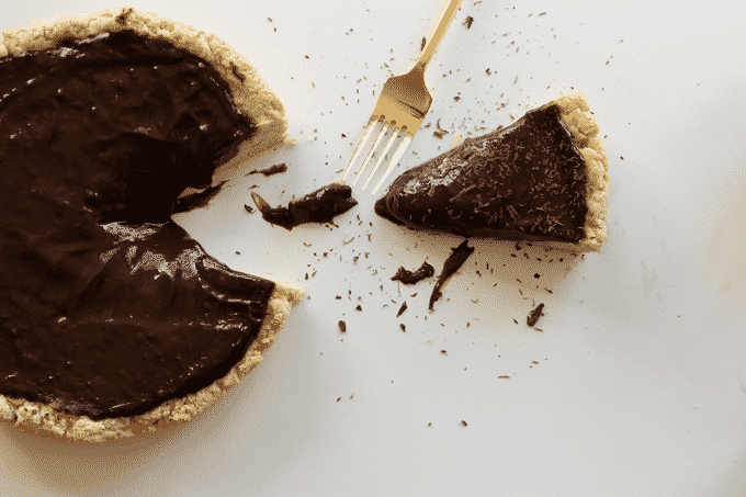 Unbelievably healthy, delicious, and easy chocolate pudding pie. You won't even believe every decadent slice of pie has less than 200 calories, but packs over 11g of protein.