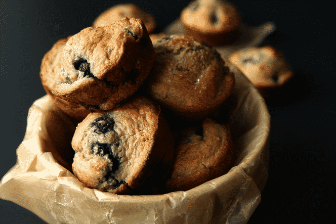 These healthy low calorie blueberry muffins are out-of-control delicious. Plus, they're packed with over 10g of protein.