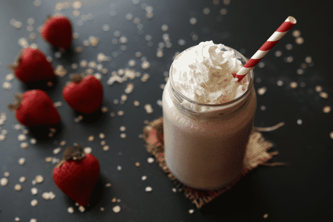 this-strawberry-shortcake-protein-shake-has-over-30g-of-protein-and-less-than-300-calories