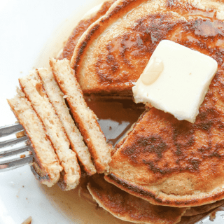 The BEST Keto Pancakes using almond flour! This easy low carb Pancake recipe is made with eggs, cottage cheese, and of course almond flour, but tastes like a fluffy pancake you'd get at IHOP