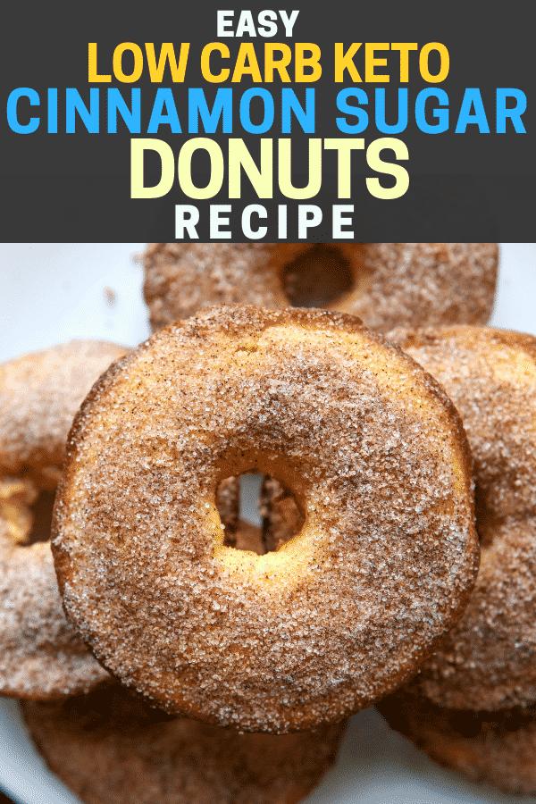 Cinnamon Sugar Keto Donuts Recipe The Diet Chef