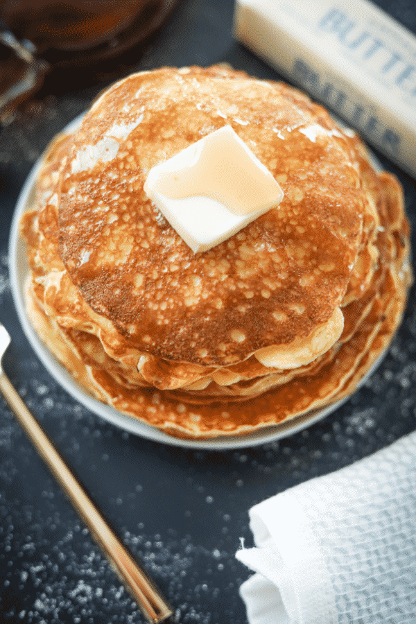 Keto Pancakes! Easy to make, low carb, and fluffy as could be! These are THE BEST coconut flour cream cheese pancakes for keto!