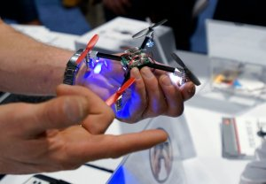A vendor showing off the Micro Drone at this year's International Consumer Electronic show in Las Vegas