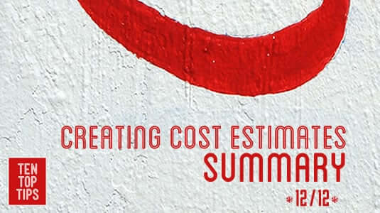 12 creating cost estimates - a summary