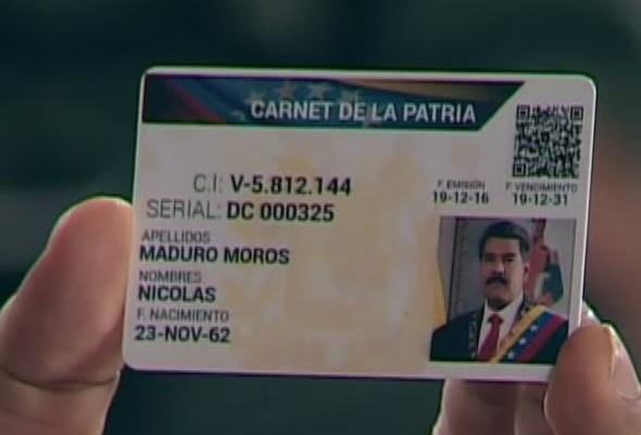 """El """"Carnet de la Patria"""" es la nueva forma de racionamiento del gobierno de Maduro"""