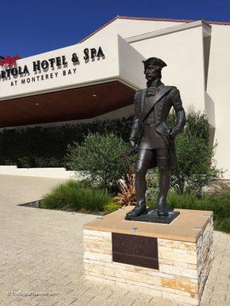 "Portola Hotel Statue of ""Gaspar de Portola"""