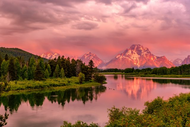 Grand Teton Snake River Oxford Bend Sunrse