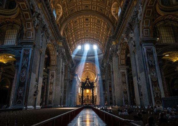 Inside, St. Peter's Basilica.