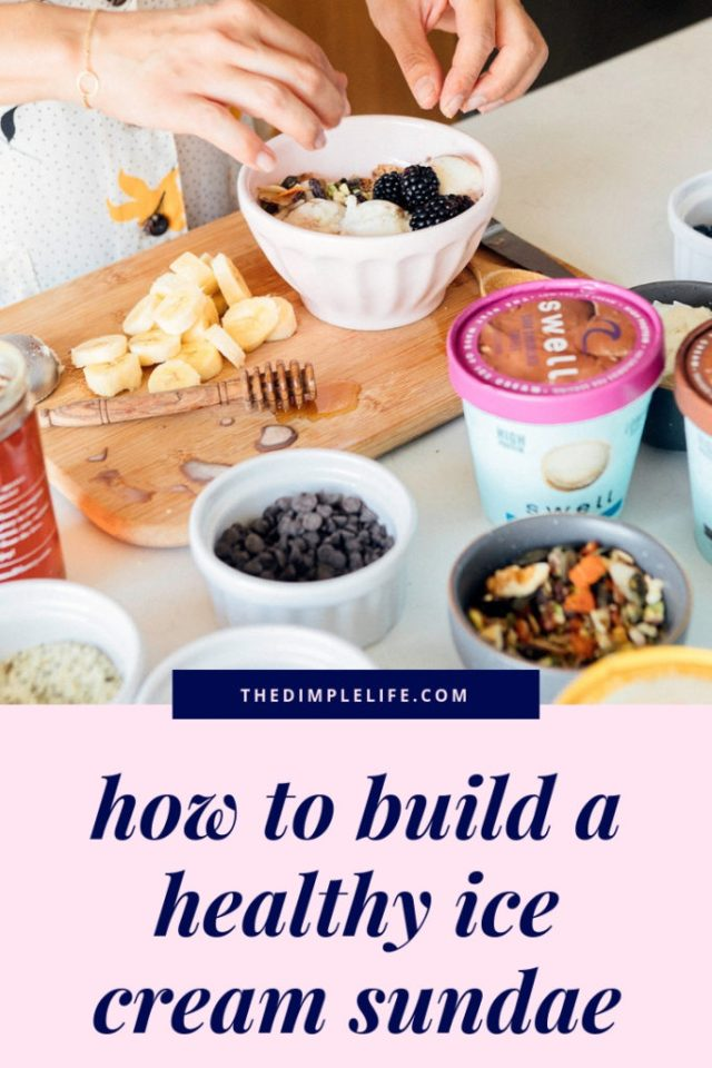 Provide healthy options for your next homemade ice cream sundae bar. | #thedimplelife #icecream #healthyliving