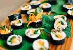 Authentic Korean Traditional Kimbap vegetable based rice rolls #koreanfood #koreancooking #authentickorean #TheDimpleLife