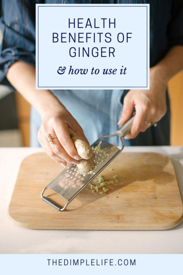How to use ginger to boost your health | Ginger is one of the OG superfoods, and it's a really easy one to add to your diet! In this post, I'll tell you all about the top health benefits of ginger and share some easy ways to use ginger on the daily. | The Dimple Life #thedimplelife #ginger #healthbenefitsofginger #healthtips #healthyeating #nutritiontips #superfood #wellness #prevention #healthyliving