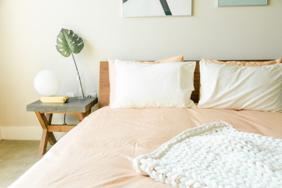How to create a calm, zen bedroom environment. #CalmBedroomIdeas #CalmBedroomColors #TheDimpleLife
