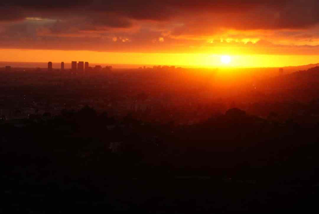 Sunset from Los Angeles Observatory