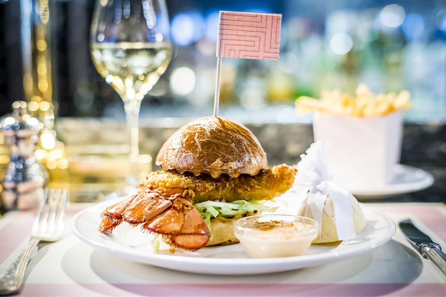 Bob Bob Ricard Food. The delicious lobster burger is just one highlight at Soho's best restaurant