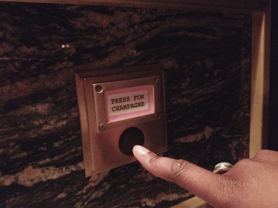Champagne Button at Bob Bob Ricard Restaurant in London