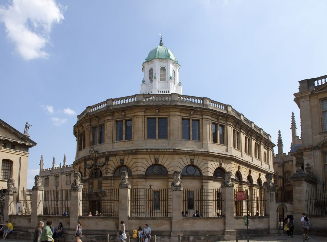 The Sheldonian Theatre in Oxford, part of our free Oxford tour