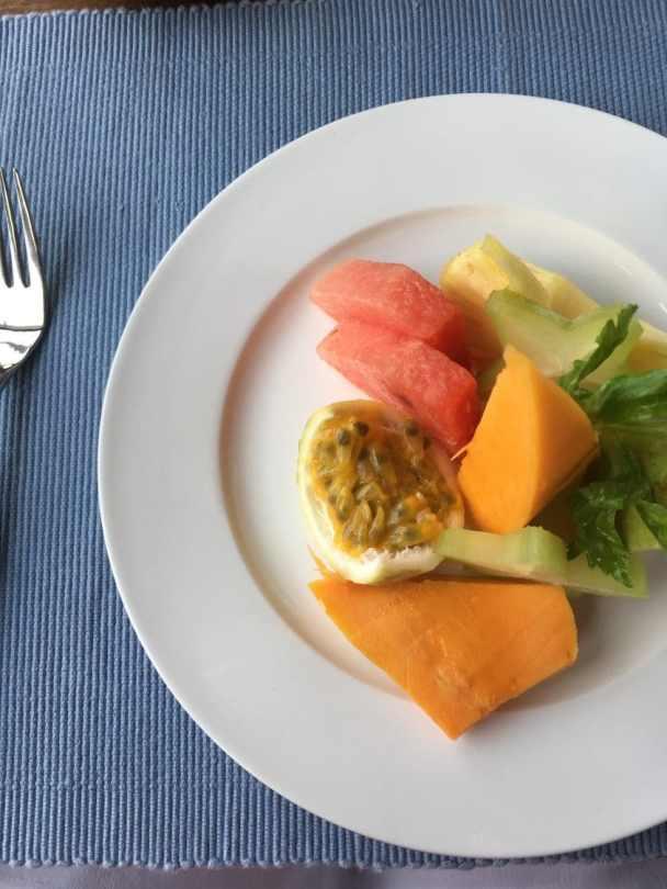 Fruit platter at Santani