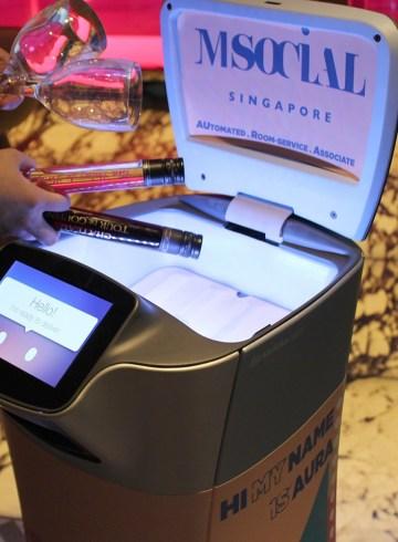 AURA Robot at M Social Singapore