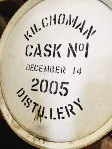 Cask at Kilchoman Distillery during the Islay Whisky Festival
