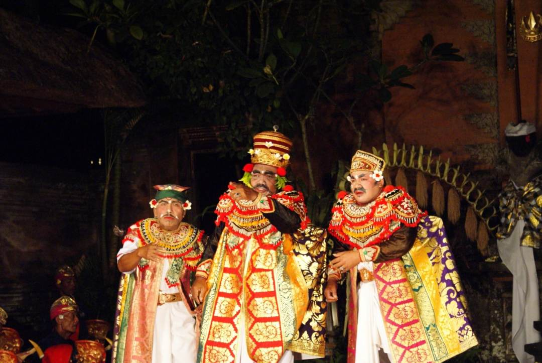 Trio of dancers at the Ubud Palace