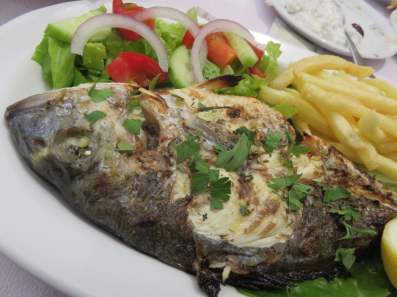 Fresh seafood is a Corfiot food specialty