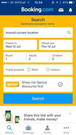 Booking.com is one of the best free travel apps