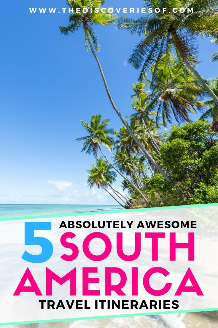 Travelling to South America? Here are five travel itineraries to rock your trip. Detailed travel itineraries to help you plan your most amazing travels yet! Beaches, culture, adventure, jungle...Your bucket list is about to get longer. Read more.