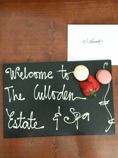 Culloden Hotel Review & Spa Welcome Mat