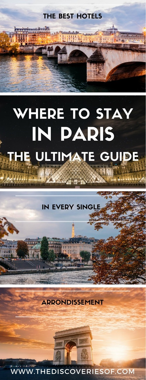 Paris - your go to travel accommodation guide. We've picked the best things to do and places to stay in each area of Paris: with budget, affordable and luxury hotels and apartments to suit your budget. Travel tips for our favourite cities. #travel #paris