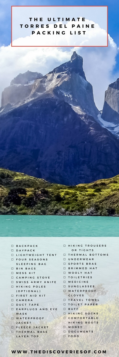 The Ultimate Torres del Paine Packing List