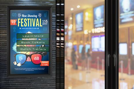 digital movie poster displays