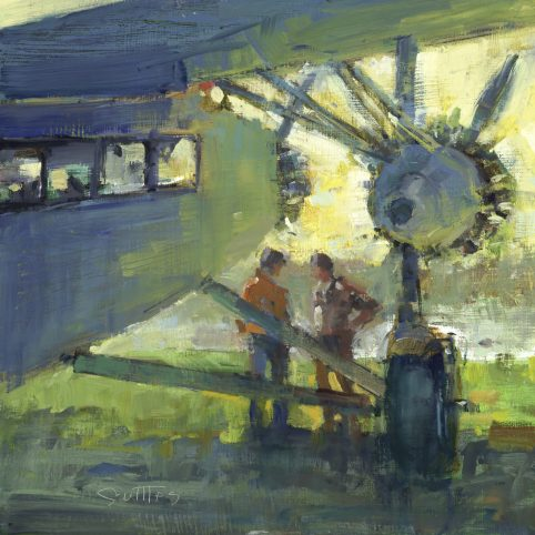 Bill Suttles, Fly-in, Santee, SC, oil on panel, 12 x 12 in.