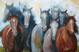 Nine Lives, Oil on Canvas, 24x36