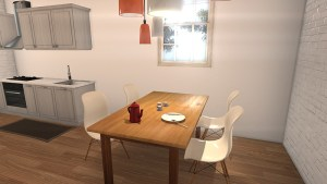 dinner area by kitchen 3d architectural