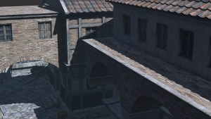 rome edieval buildings seen from top