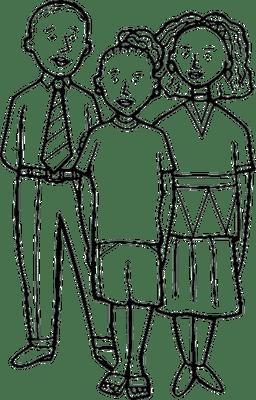 Families going through divorce