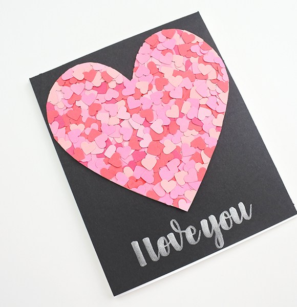 Creating a Confetti Heart Card