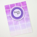Shades of Purple - Geometric Greeting Card www.thediyday.com @thediyday