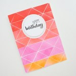 Greeting Card - The Half Square Triangle www.thediyday.com @thediyday