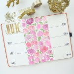 Notebook Journal - Gold and Pink Peonies www.thediyday.com @thediyday