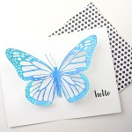 A Pop-Up Butterfly Greeting Card www.thediyday.com @thediyday