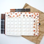How to Include Autumn in a Journal Layout www.thediyday.com @thediyday
