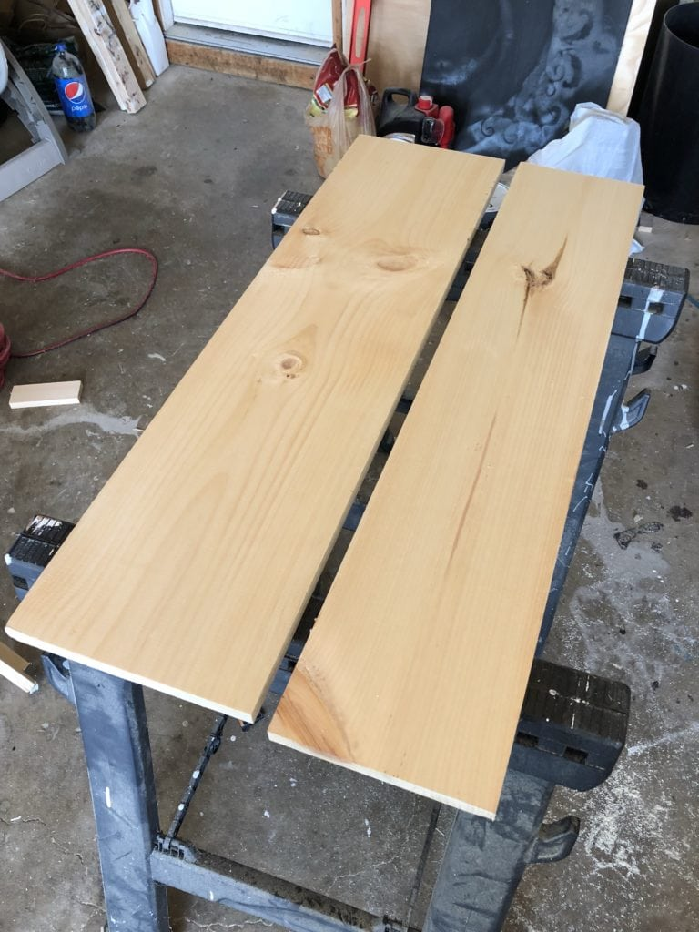 wood before stain